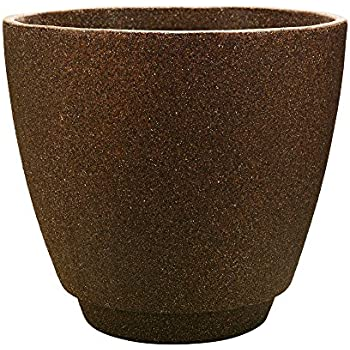 "Southern Patio 19"" Metro Poly-Resin Planter, Granite Brown"
