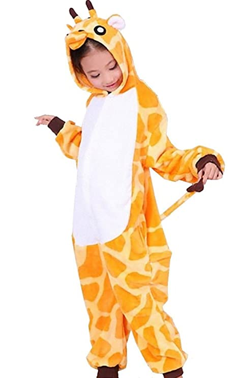 121255f4bf JT-Amigo - Pigiama Tutina Costume Animale - Bambina e Bambino - Giraffa, 9