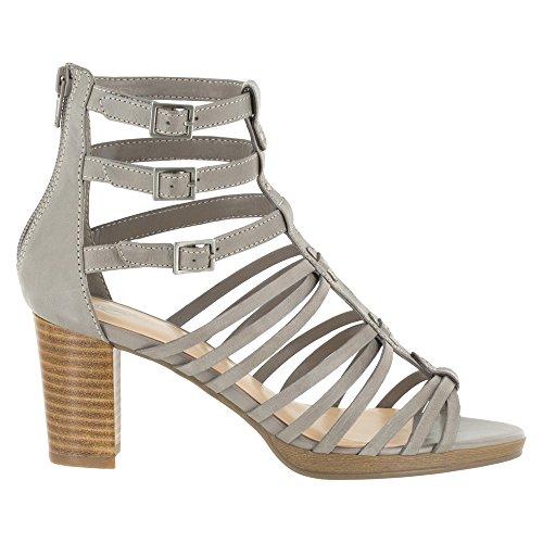 Bella Vita Layne gladiador sandalias de la mujer Gris claro