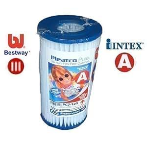 Happy Hot Tubs Bestway III 3 Swimming Pool Filter PC7-120 Intex Type A
