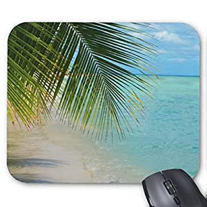 Pillow Perfect Office Mousepads Tropical Palm Tree And Ocean On Beach Mouse Pad