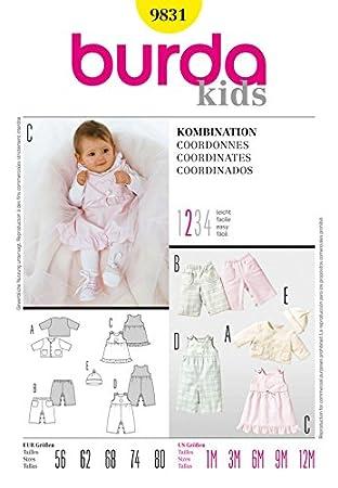 Amazon.com: Burda Baby Easy Sewing Pattern 9831 Jacket, Dress, Pants ...