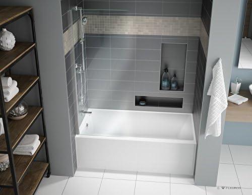 Fleurco Aria Muse  X  Alcove Acrylic Soaking White Bathtub Bmu Amazon Com