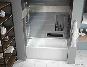 acrylic soaking tub 60 x 30. fleurco aria muse 60\u0026quot; x 32\u0026quot; 21\u0026quot; alcove acrylic soaking white bathtub tub 60 30