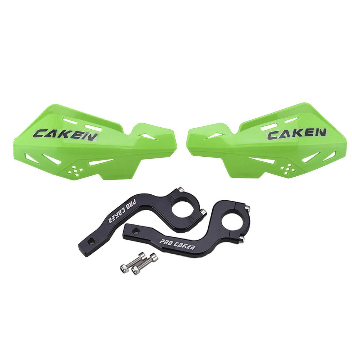 PRO CAKEN CNC Handle Bar Hand Guards Protector Dirt Bike Motocross ATV for SX SXF EXC XCW Yellow