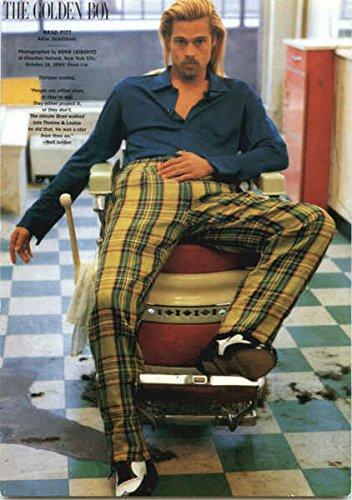 Brad Pitt - The Golden Boy Celebrities Original Vintage Postcard