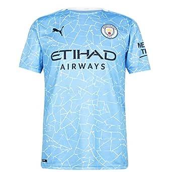 PUMA Herr tröja 20/21 Home Manchester City Fc Replica with Sponsor logo T-shirt