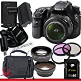 Sony Alpha SLT-A58K SLT-A58 DSLR Digital Camera with 18-55mm Lens 32GB Package