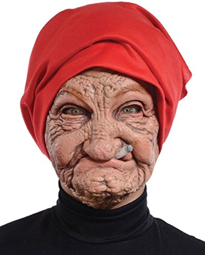 Morris Costumes Halloween Party Old Nana Latex Mask ()