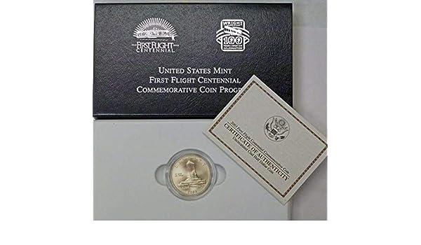 2003 P BU First Flight Commemorative Half Dollar w//Box /& COA Clad 50c US Mint