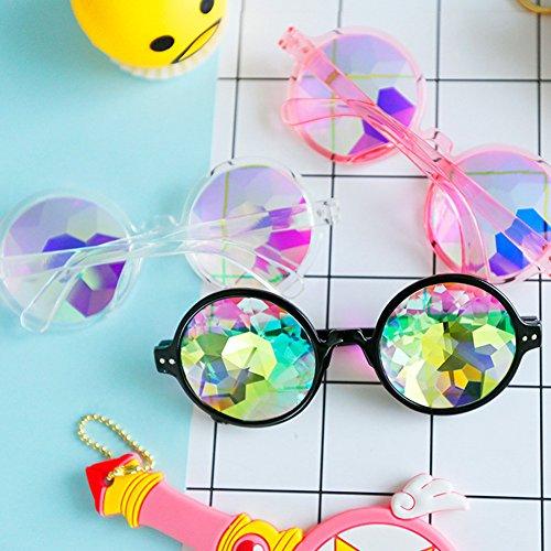 de Cosplay de black uniques Lunettes lunettes de kaléidoscope de rétro Colour soleil rondes de H1qvv5fw
