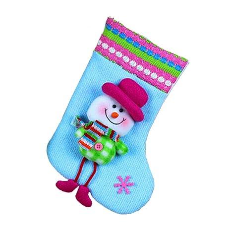 Bulary Medias y Calcetines de Navidad Calcetines Ornamento del árbol de Navidad Botas Santa Claus Nochebuena