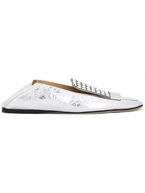 Sergio Rossi - Mocasines para mujer plateado plata IT - Marke Größe, color plateado, talla 37.5 IT - Marke Größe 37.5: Amazon.es: Zapatos y complementos