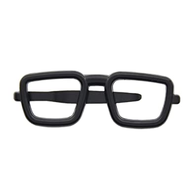 48594326cce6 Amazon.com: Mens Novelty Square Glasses Frame Shape Tie Clip Alloy Tie Bar  Clasp Clip Pin 1 Pc: Jewelry