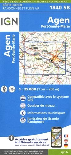 Agen.Port-Sainte-Marie Carte – Carte pliée, 22 septembre 2016 Ign 2758537095 Karten / Stadtpläne / Europa France