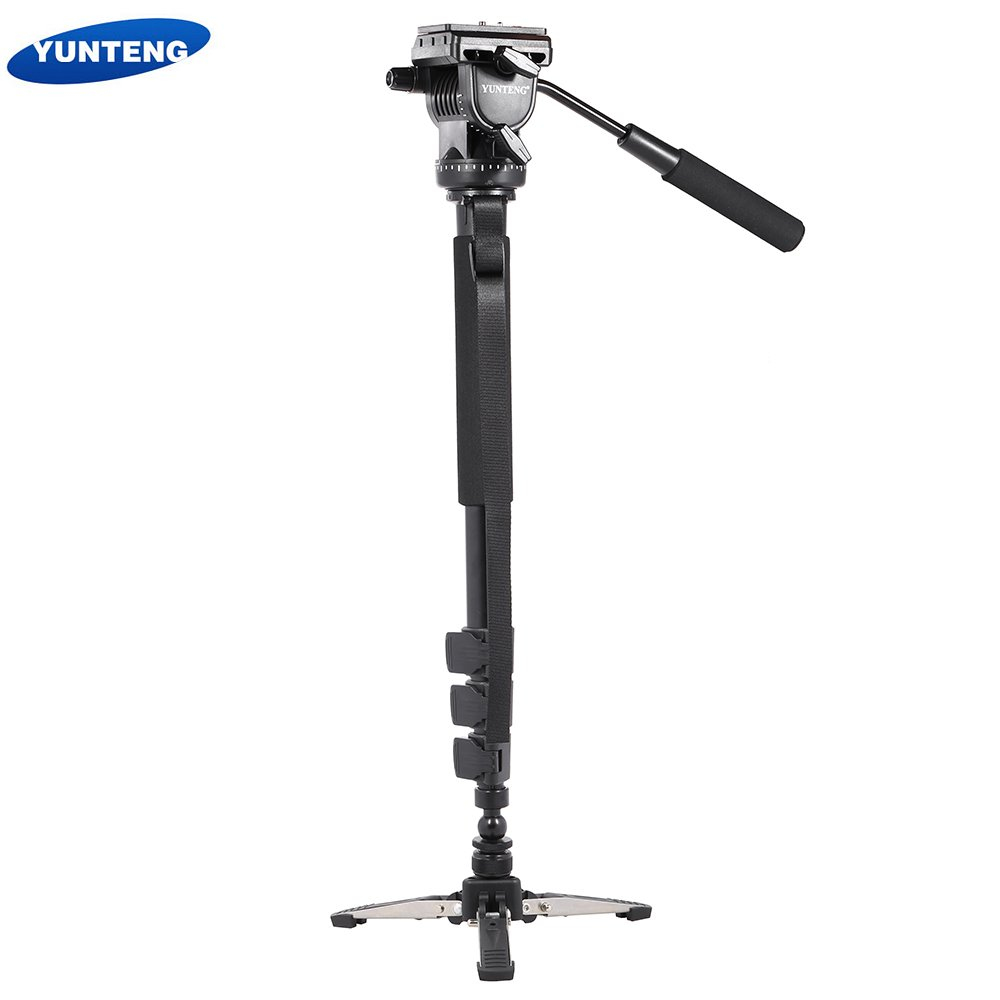 Andoer Yunteng vct-588 Extendable伸縮式一脚with取り外し可能三脚スタンドベース流体ドラッグヘッドfor DSLRカメラビデオカメラ   B01LWSUA2J