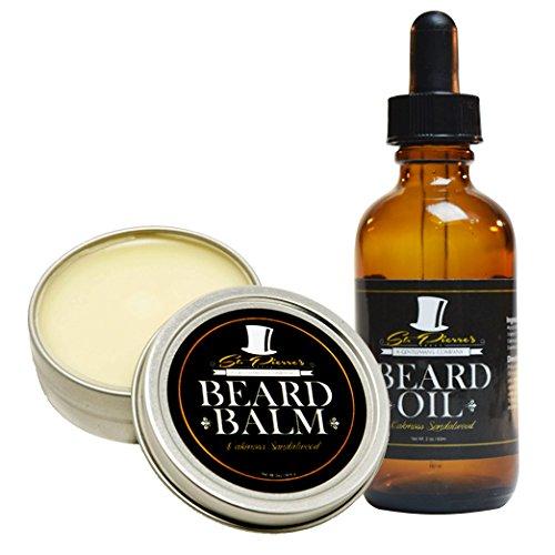 Best Sandalwood Beard Oil & Balm Conditioner Set for Men – 2 oz
