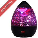 Newest Night Light,Multiple Colors Star Light Rotating Projector with Timer Auto Shut for Kids and Baby Bedroom,Best Night Lights for Kids to stimulate Imagination and Curiosity (Glossy Black)