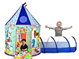 Aeroway Circus Image Play Tent with Tunnel and Case – Blue