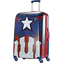 American Tourister Disney Marvel All Ages Spinner, Captain America, Checked – Large