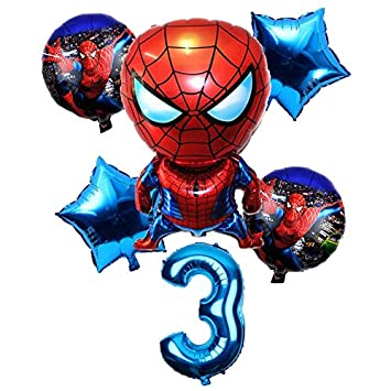 Globos 6 Unids / Set 32 Pulgadas Número 1-9 años Spider-Man ...