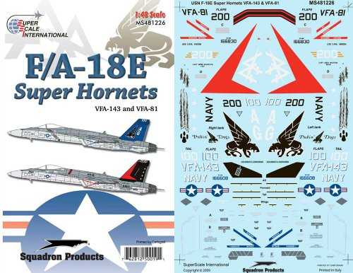 Superscale USA F/A-18E Super Hornets Decals