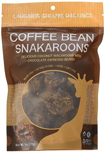 Laughing Giraffe Snakaroons, Coffee Bean, 6 Ounce Bag
