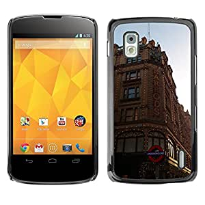 Hot Style Cell Phone PC Hard Case Cover // M00171336 London City Building Architecture // LG Nexus 4 E960