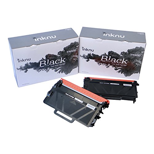 Inknu TN850(TN-850) 2-Pack Toner Cartridge for Brother - OEM Quality Prints Upgraded Easy Install Design 100% Smudge-Free by inknu