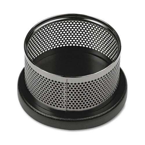 Rolodex E22625 Distinctions Paper Clip Holder 3 7/8 x 4 1/8 x 2 3/8 Metal/Black