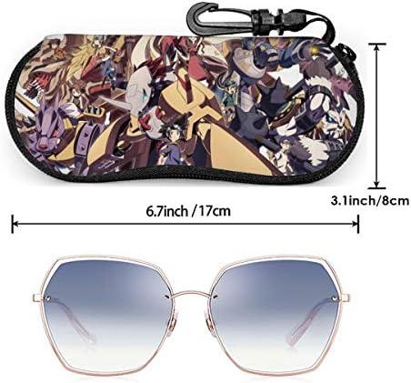ポータブル メガネケース デジモン ファッション ジッパー フック メガネケース サングラスケース