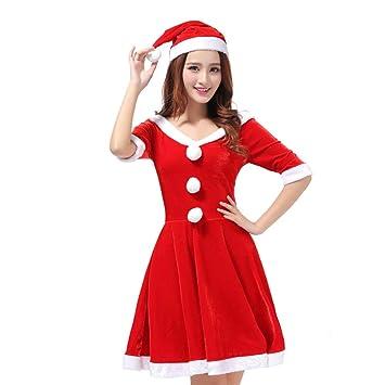 GSDZN - Traje De Navidad Mujer Adulta Navidad Vestido Rojo ...