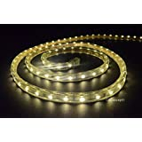 Cbconcept 120VSMD3528-15.5M-WW 50-Feet Warm White 120 Volt LED SMD3528 Flexible Flat LED Strip Rope Light, 3/8-Inch Width x 1/4-Inch Thickness