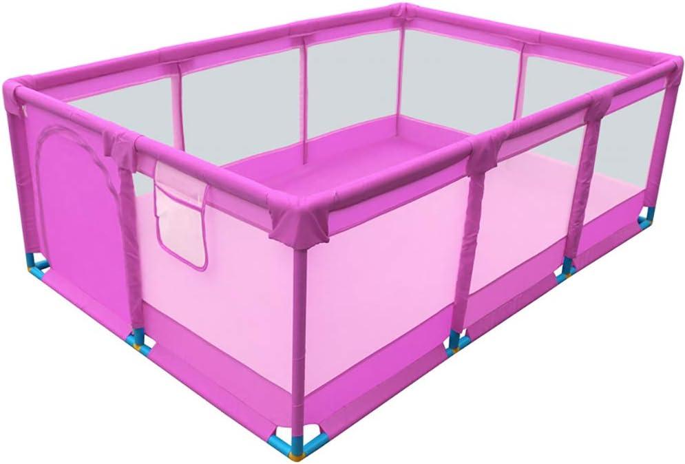 2 Colores WYQ Parque Infantil Bebe para Uso Interior y Exterior Colorear Playard Rectangular Impermeable Seguridad