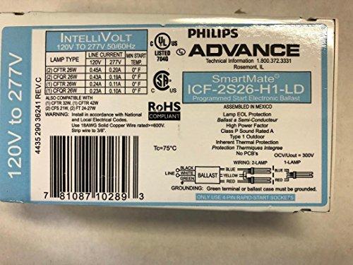 Advance ICF-2S26-H1-LD SmartMate 2x26W CFL 4-Pin Ballast - HPF ()