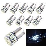 Motorus93 10-Pack 1156 1003 1141 7506 50-SMD Led Bulb Used For Back Up Reverse Lights,Brake Lights,Tail Lights,Rv light,White