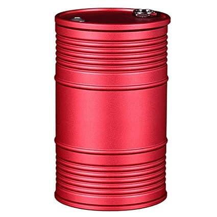 NKLD Ceniceros Portátiles Cenicero Aleación De Aluminio Ceniceros Portátiles Rotación del Coche Cenicero A Prueba De