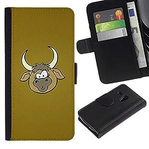 All Phone Most Case / Oferta Especial Cáscara Funda de cuero Monedero Cubierta de proteccion Caso / Wallet Case for Samsung Galaxy S3 MINI 8190 // Cowboy Farm Brown Cartoon
