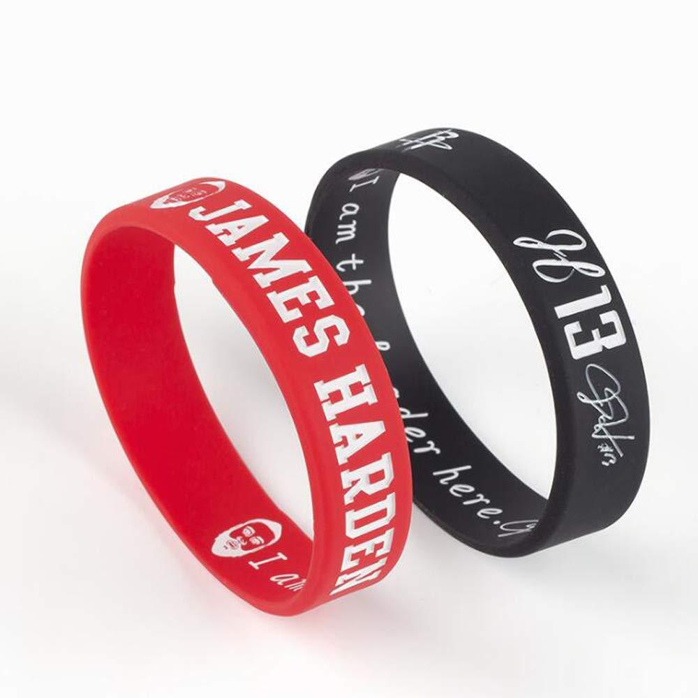 6280c6bbeb15 Amazon.com   FANwenfeng Basketball Harden Inspirational Signature Wristbands  Sport Silicone Bracelet 4 Pcs   Sports   Outdoors