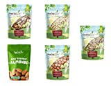 Organic Raw Nuts in a Gift Box - A Variety Pack of Almonds, Cashews, Brazil Nuts, Hazelnuts, and Walnuts