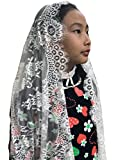 Chapel church veil for girls infinity lace scarf F11 (Ivory)