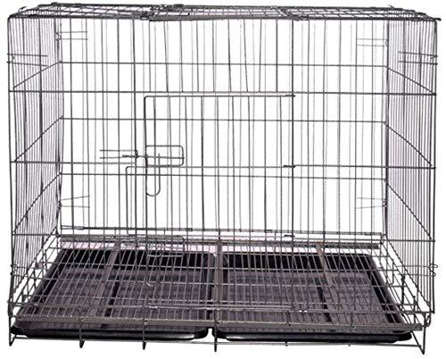 KKLLL - Jaula de Transporte para Perros, Caja de Metal, Puertas ...