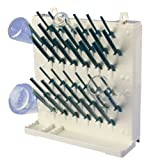 Bel-Art Products F18933-0013 Lab-Aire II Drying Rack, Wall Mount, Single-Sided, 3 Tier, 57 Pegs