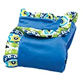 Trend Lab Waverly Solar Flair Ruffle Trimmed Receiving Blanket, Blue/Green