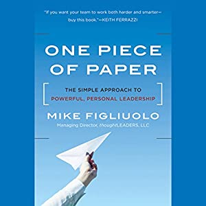 One Piece of Paper Audiobook