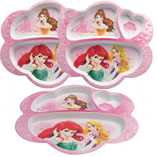 zak Disney Princess Divided Child Plate (Quantity of (Princess Divided Plate)