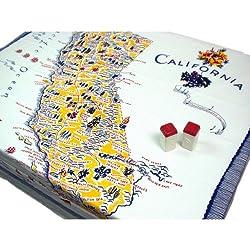 California Souvenir Tablecloth 1950's