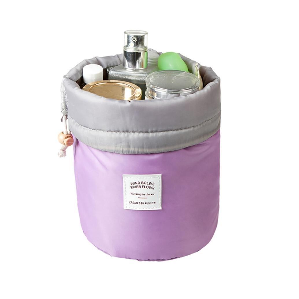 Storage Toiletry Bag ,IEason Clearance Sale! Barrel Travel Cosmetic Drawstring Wash Makeup Organizer Storage Toiletry Bag (A)