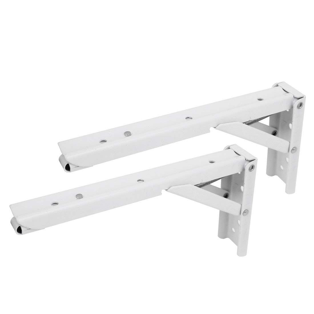 8 L Shaped Self Lock Foldable Shelf Bracket Brace Support 2pcs