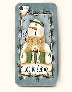 SevenArc iPhone 5 5s Case - Cute Snowman - Let It Shine